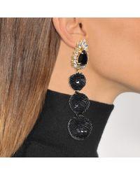 Shourouk - Black Disco Earrings - Lyst