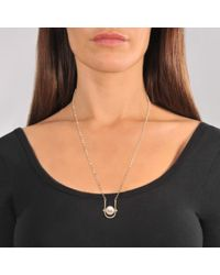 Valentino - Metallic Pearl Necklace - Lyst