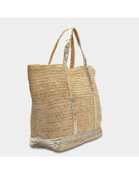Vanessa Bruno - Multicolor Raffia And Sequins Large Tote Bag In Or Raffia - Lyst