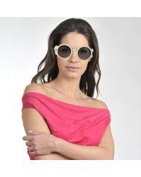 Prada Cinema Sunglasses In White Acetate