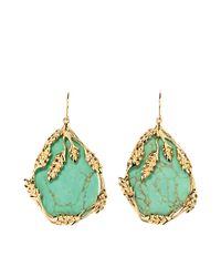 Aurelie Bidermann - Green Francoise Pendant Earrings - Lyst