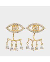 Shourouk - Metallic Z Farah Earrings - Lyst