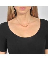 Ginette NY Metallic Volute Necklace
