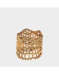 Aurelie Bidermann - Metallic Lace Ring - Lyst