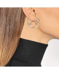 Charlotte Chesnais - Multicolor Ricoché L Mono Earring In Yellow Vermeil And Silver - Lyst