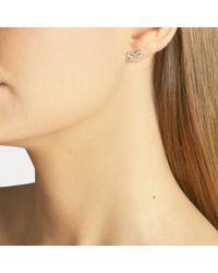 Ginette NY Multicolor Single Tiny Bow Stud Earring