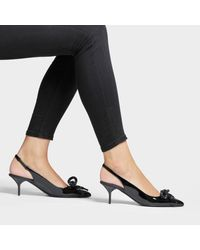 Slingbacks Fink en Cuir Noir Burberry en coloris Black