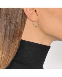 Aurelie Bidermann - Metallic Fine Jewellery - 18k Gold Shark Teeth Earrings With Turquoise & Yellow Gold Pearls - Lyst