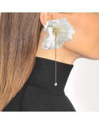 Anton Heunis - White Flower Earrings In Pink And Gold Metal - Lyst