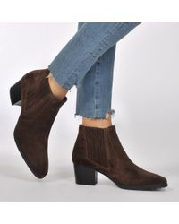 Tod's Brown Suede Pull On Ankle Boots