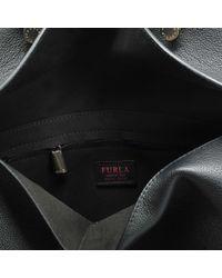 Furla - Black My Piper L Top Handle Bag In Onyx Calfskin - Lyst
