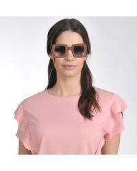 Marni Multicolor Show Square Sunglasses In Pink Acetate And Metal
