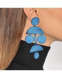 Annie Costello Brown - Blue Pom Pom Earrings - Lyst