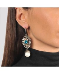 Alexander McQueen - Multicolor Jewelled Eye Earrings - Lyst