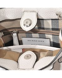 Burberry - White Baby Banner Bag - Lyst