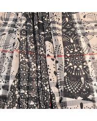 Burberry   White 215 X 70 Lace Patchwork Gauze Scarf   Lyst