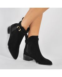 Burberry | Black Whittingham Ankle Boot | Lyst