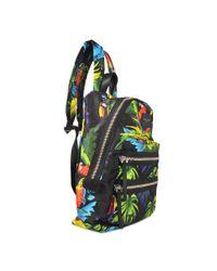 Marc Jacobs Multicolor Parrot Printed Biker Backpack