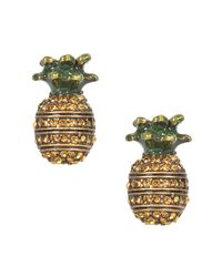 Marc Jacobs | Metallic Charms Tropical Pineapple Studs Earrings | Lyst
