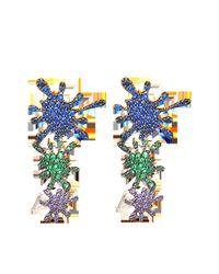 Joanna Laura Constantine | Multicolor Paint Splash Ear-crawlers Earrings | Lyst