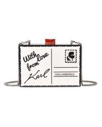 Karl Lagerfeld | Multicolor K Postcard Minaudiere | Lyst