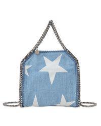 Stella McCartney   Blue Velvet Python Fold Over Bag   Lyst