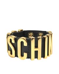 Moschino | Black Lettering Bracelet | Lyst