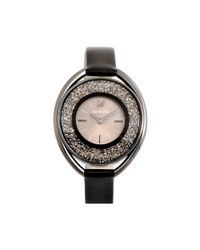 Swarovski - Metallic Crystalline Oval Watch - Lyst