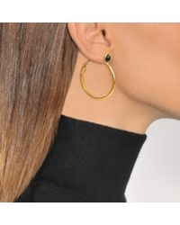 Sylvia Toledano - Metallic Onyx Hoop Earrings - Lyst