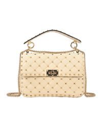 Valentino - White Rockstud Spike Medium Shoulder Bag - Lyst