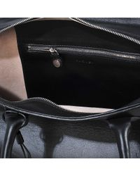 Carven - Black Eyelet Double Carry Bag - Lyst