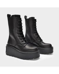 Bottines Combat en Cuir Noir Valentino Garavani en coloris Black