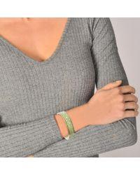 Marc Jacobs - Multicolor Double J Enamel Printed Chain Cuff Bracelet In Mint Enamel - Lyst