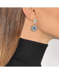 Shourouk - Blue Happy Small Eye Earrings - Lyst