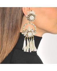 Shourouk - Multicolor Malena White Earrings - Lyst
