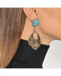 Roberto Cavalli - Metallic Glam Stone Earrings - Lyst