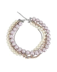 Marc Jacobs | Multicolor Multi Strand Pearl Statement | Lyst
