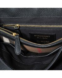 Burberry Camberly Medium Bag In Black Grained Calfskin