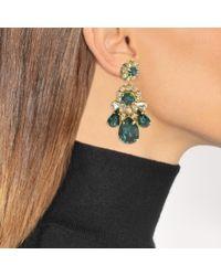 Shourouk - Multicolor Ds Emerald Earrings In Green - Lyst