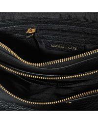 MICHAEL Michael Kors Double Zip Crossbody Bag In Black Pebble Leather