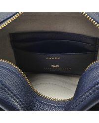 Anya Hindmarch - Blue Crossbody Smiley Bag In Metallic Capra - Lyst
