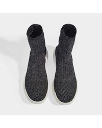 Sneakers Loop en Matière Synthétique Noire et Argentée Stella McCartney en coloris Black