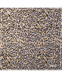 KENZO - Natural 90x90 Leopard Carre Square In Off White Silk - Lyst