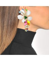 Shourouk - Multicolor Exotica Neon Earrings In Multi Brass And Swarovski Crystals - Lyst