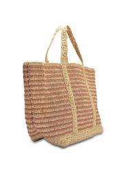 Vanessa Bruno - Multicolor Lurex Raffia Large Tote Bag In Copper Lurex And Raffia - Lyst