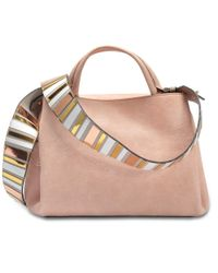 Hogan - Multicolor Horizonal Mini Tote Bag In Salmon Pink Grained Leather - Lyst
