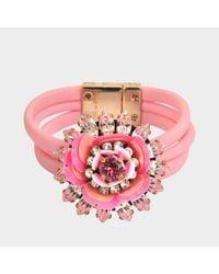 Shourouk Pink Bracelet Flower