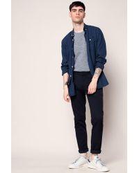 Knowledge Cotton Apparel - Blue T-shirt for Men - Lyst