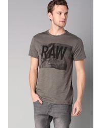 G-Star RAW | Gray T-shirt for Men | Lyst