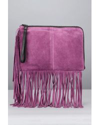 Pieces   Purple Clutches / Evening Bags   Lyst